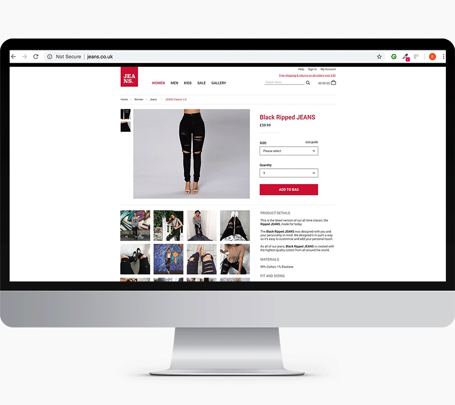 Jeans-Product-Page
